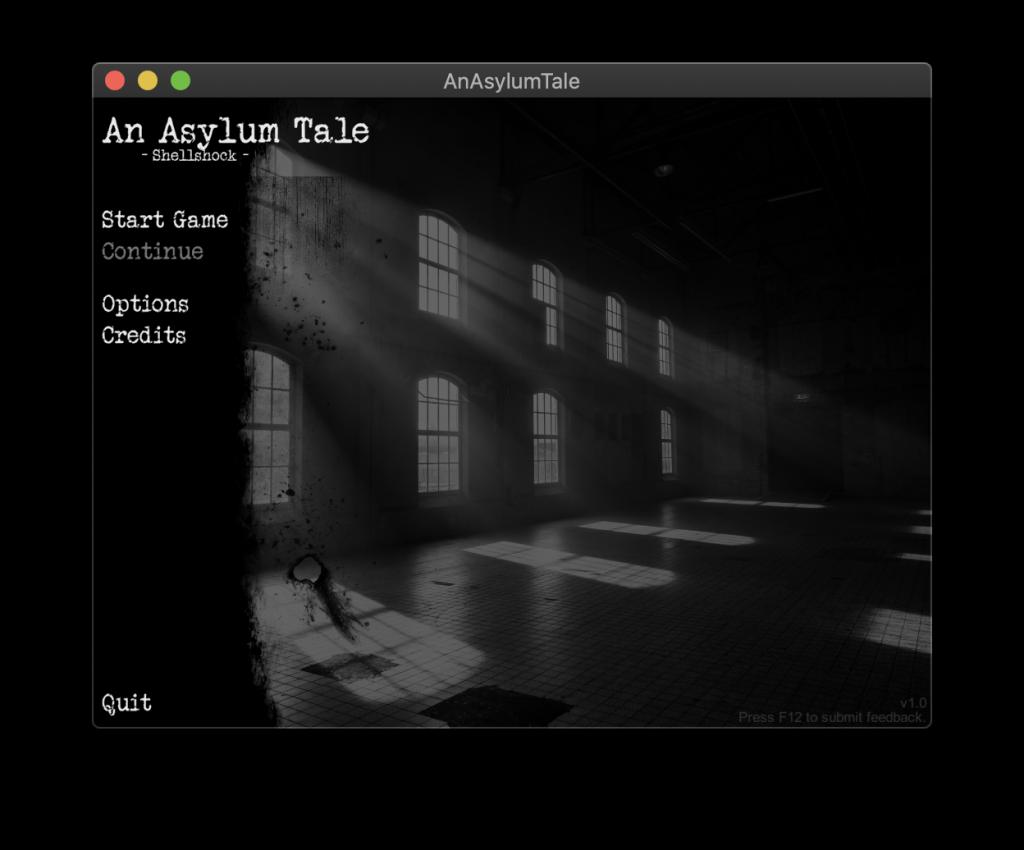 An Asylum Tale – Main Menu