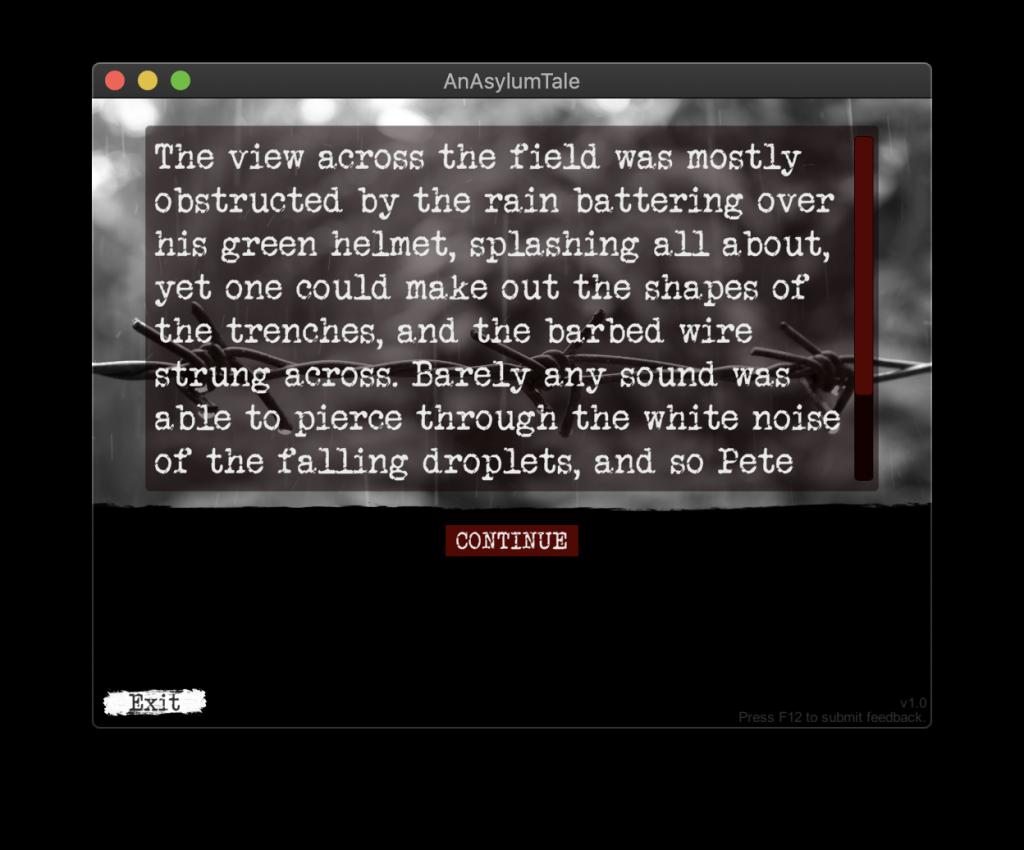 An Asylum Tale – First Screen