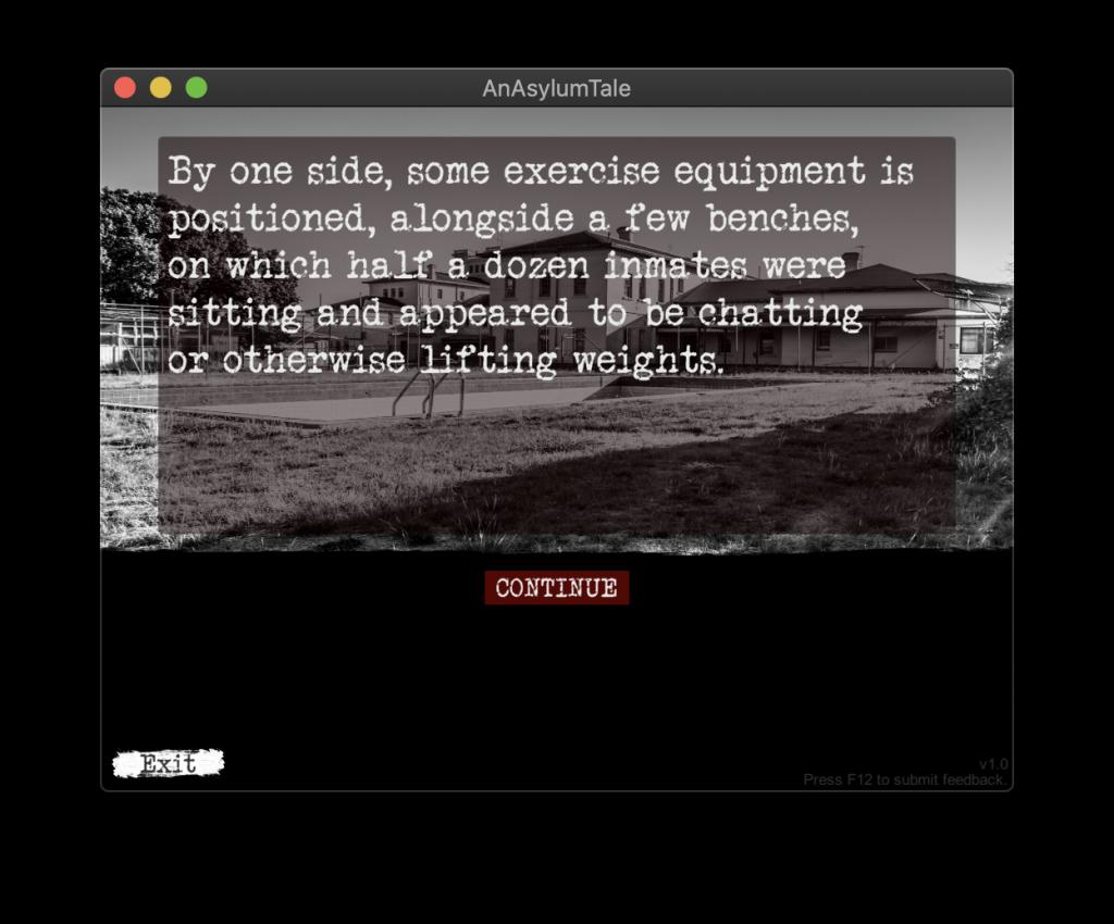 AnAsylumTale Game Screen Chapter